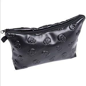 Skull Cosmetic Bag Vegan Leather